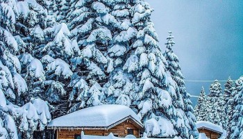 جبل كارتبه في الشتاء